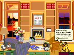 Собачка Microsoft Bob в Win 3.1 одна из самых превых реализаций некоего подобия помощника.