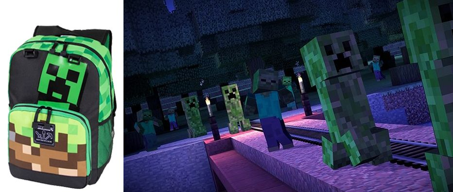 JINX Minecraft Creepy Things Backpack 17