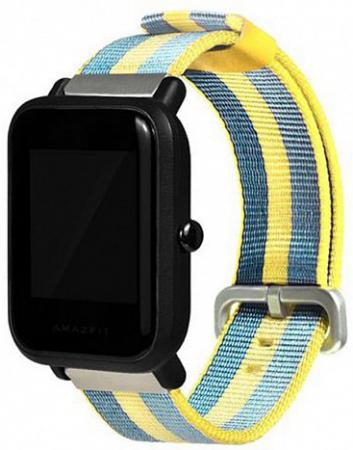 Ремешок для Amazfit Bip 20мм, Yellow/Blue (AMZBPUNTXT-BE)