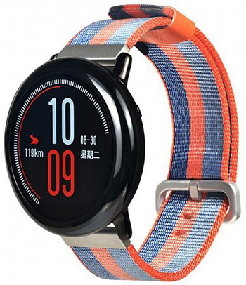 Ремешок для Amazfit Stratos 22мм, Grey/Orange (AMZSTRUNTXT-SO)