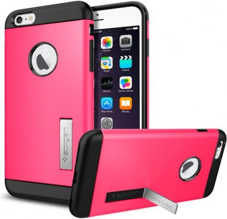 Spigen Case Slim Armor Series for iPhone 6 Plus, Azalea Pink (SGP10908)