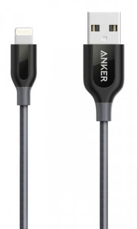 Anker Powerline+ Lightning V3 0.9м, Space Gray