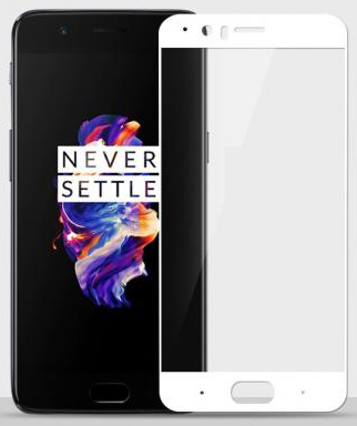 Mocolo 2.5D Full Cover Tempered Glass OnePlus 5 White
