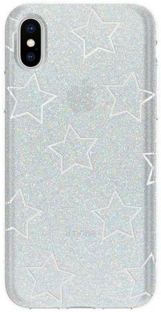 Incipio Design Series for Apple iPhone XS, Glitter Star Cut Out (IPH-1651-STR)