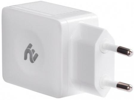 2E Wall Charger 2xUSB 4.2A, White (2E-WC4USB-W)