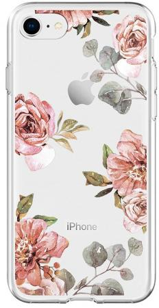 Spigen Case Liquid Crystal for iPhone 8/7, Aquarelle Rose (054CS22619)