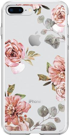 Spigen Case Liquid Crystal for iPhone 8/7 Plus, Aquarelle Rose (055CS22621)
