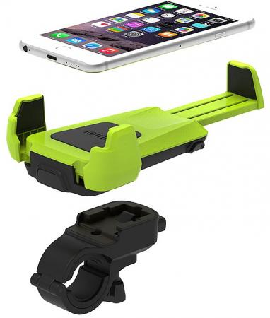 IOTTIE Active Edge Bike & Bar Mount for Universal Electronic, Lime (HLBKIO102GN)