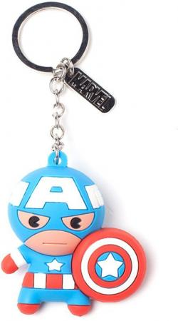 Bioworld little Captain America 3D Rubber Keychain