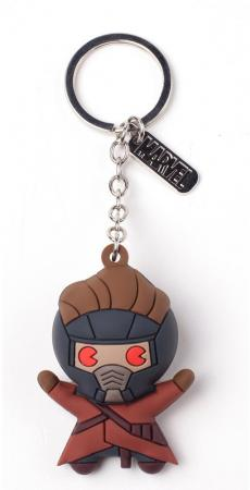 Bioworld Star Lord 3D Rubber Keychain