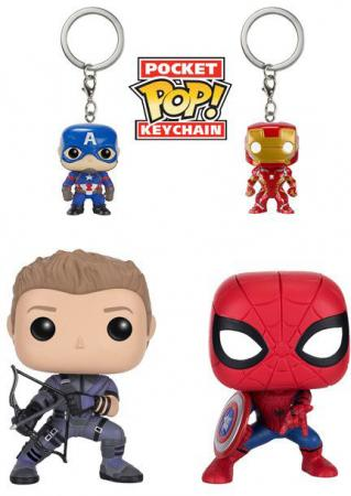 Funko POP! Heroes: 4-Pack Marvel: Captain America