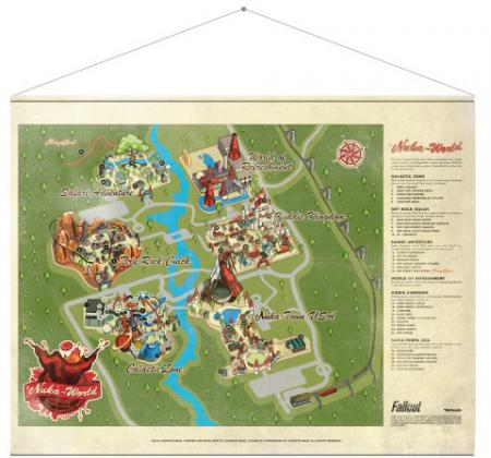 Gaya Fallout Wallscroll - Nuka World Map