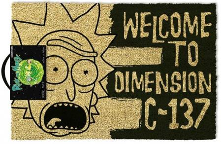 Pyramid Rick and Morty Doormat - Welcome to Dimension C-137