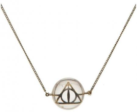 Bioworld Harry Potter Deathly Hallows Acrylic Bubble Necklace