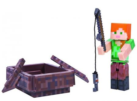 Jazwares Minecraft Alex with Boat серия 3 (16491M)