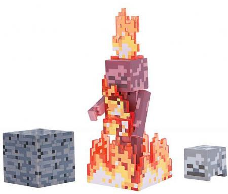 Jazwares Minecraft Skeleton on Fire серия 4 (19974M)