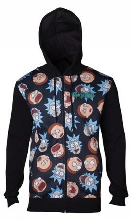 Difuzed Rick and Morty - Pattern Printed Sublimation Men's Hoodie - M