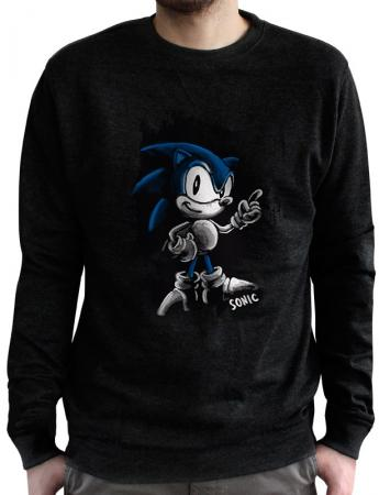Abystyle Sonic - Sweat Vintage Sonic, L