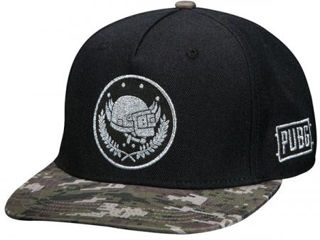 JINX PUBG - Pan Crest Snap Back Hat, Black