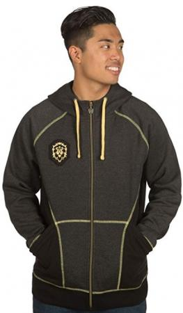 JINX World of Warcraft Zip-Up Hoodie - Alliance Classic Premium, L