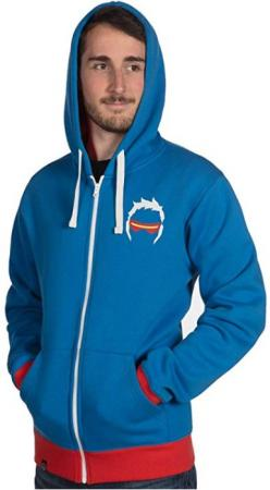 JINX Overwatch Zip Up Hoodie - Ultimate Soldier 76, M