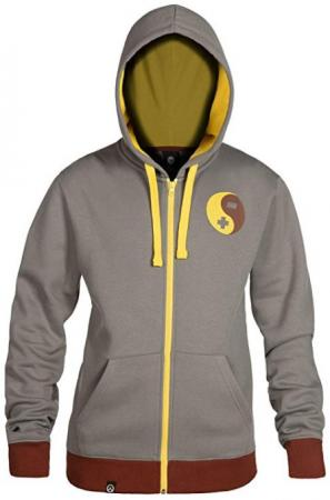 JINX Overwatch Zip Up Hoodie - Ultimate Zenyatta, XL