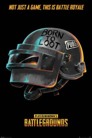 GB eye PUBG Poster - Born To Loot (FP4688)