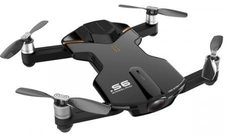 Wingsland S6 GPS 4K Pocket Drone-2 Batteries pack, Black (6381694)