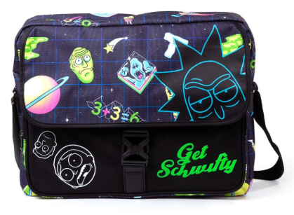 Difuzed Rick and Morty - Space AOP With Flock Print Messengerbag