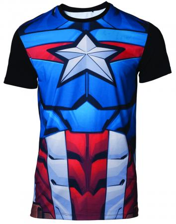 Difuzed Marvel – Captain America Men's T-shirt, L