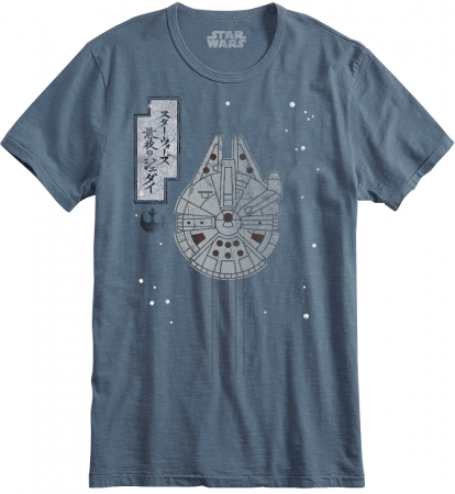 Difuzed Star Wars - Millennium Falcon Japanese Print Men's T-shirt, XL