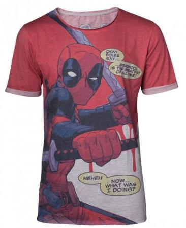 Difuzed Deadpool - All Over Men's T-shirt With Roll-Up Sleeves, S