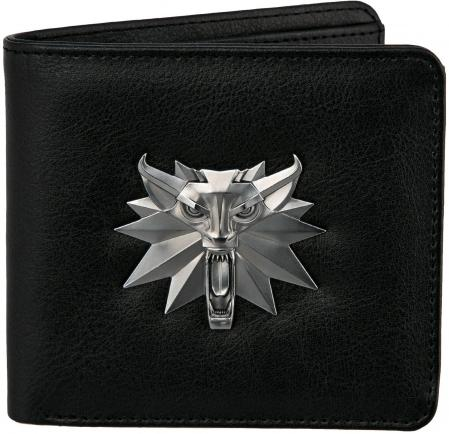 JINX The Witcher - White Wolf Bi-Fold Wallet Black