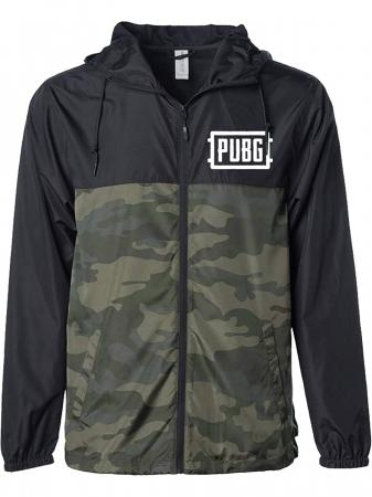JINX PUBG Air Drop Windbreaker Black/Camo, XL