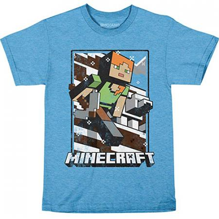 JINX Minecraft - Vintage Tundra Explorer Light Blue, Youth L