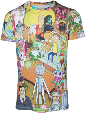 Difuzed Rick and Morty - Printed Allover Mens T-shirt - XL