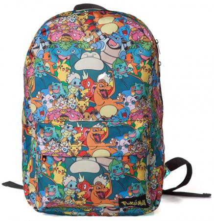 Difuzed Pokemon - Characters All Over Printed Backpack
