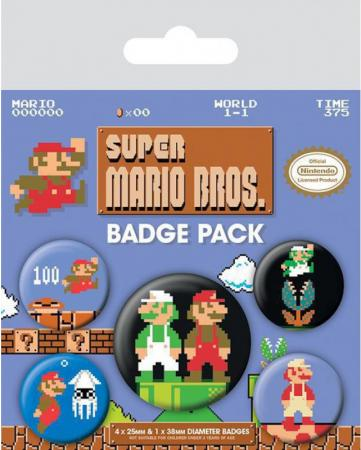 Pyramid International Badge Pack: Super Mario Bros